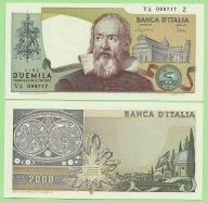 Włochy , 2000 Lire 1983 , P103c , stan I (UNC)