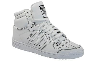 Buty Dla Mężczyzn [f37588] Nowość Adidas Top 10 White