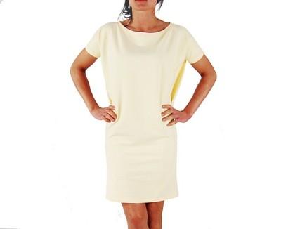 f0aa1c259b 4XL   COLLIBRI   sukienka tuba   cytrynowa