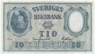 3945. Szwecja 10 kronor 1948 st.1/1-