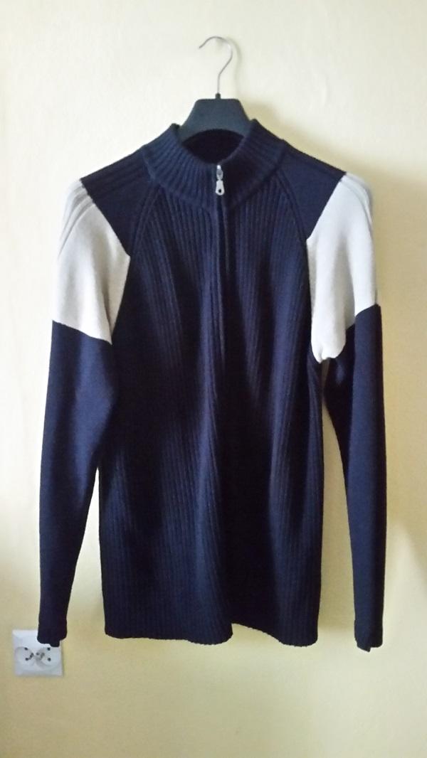 Sweter rozpinany męski czarny beżowy rozmiar L