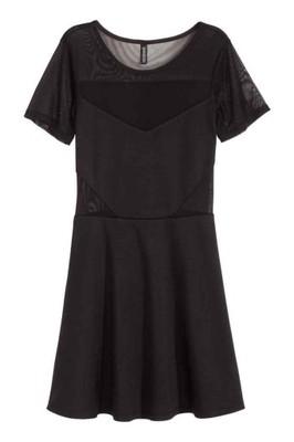 f29eb61f1c h m sukienka czarna siatka nowa 38 - 6729328725 - oficjalne archiwum ...