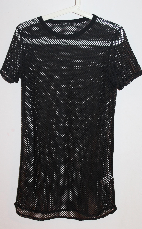 ea0f914c863c45 czarna ażurowa tunika sukienka BOOHOO 36/38 - 7032392695 - oficjalne ...