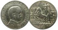 35.WŁOCHY, VITT.EMANUEL III, 1 LIRA 1913