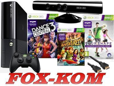 Xbox 360 E 250gb Kinect Dance 3 Fitness 2012 Hdmi 3907605378 Oficjalne Archiwum Allegro