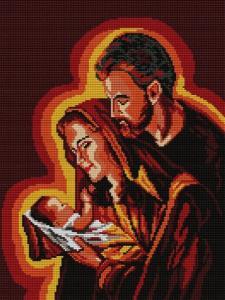 Kanwa Haft Krzyżykowy 30x40 święta Rodzina 2884631743 Oficjalne