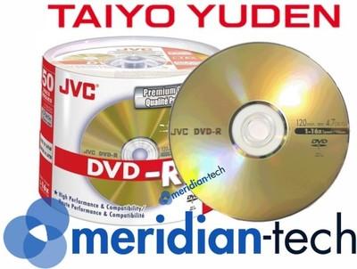 JVC DVD-R 4,7GB GOLD 25szt Taiyo Yuden NAJLEPSZE !