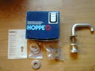 Klamka do drzwi wejściowych firmy Hoppe nowa.