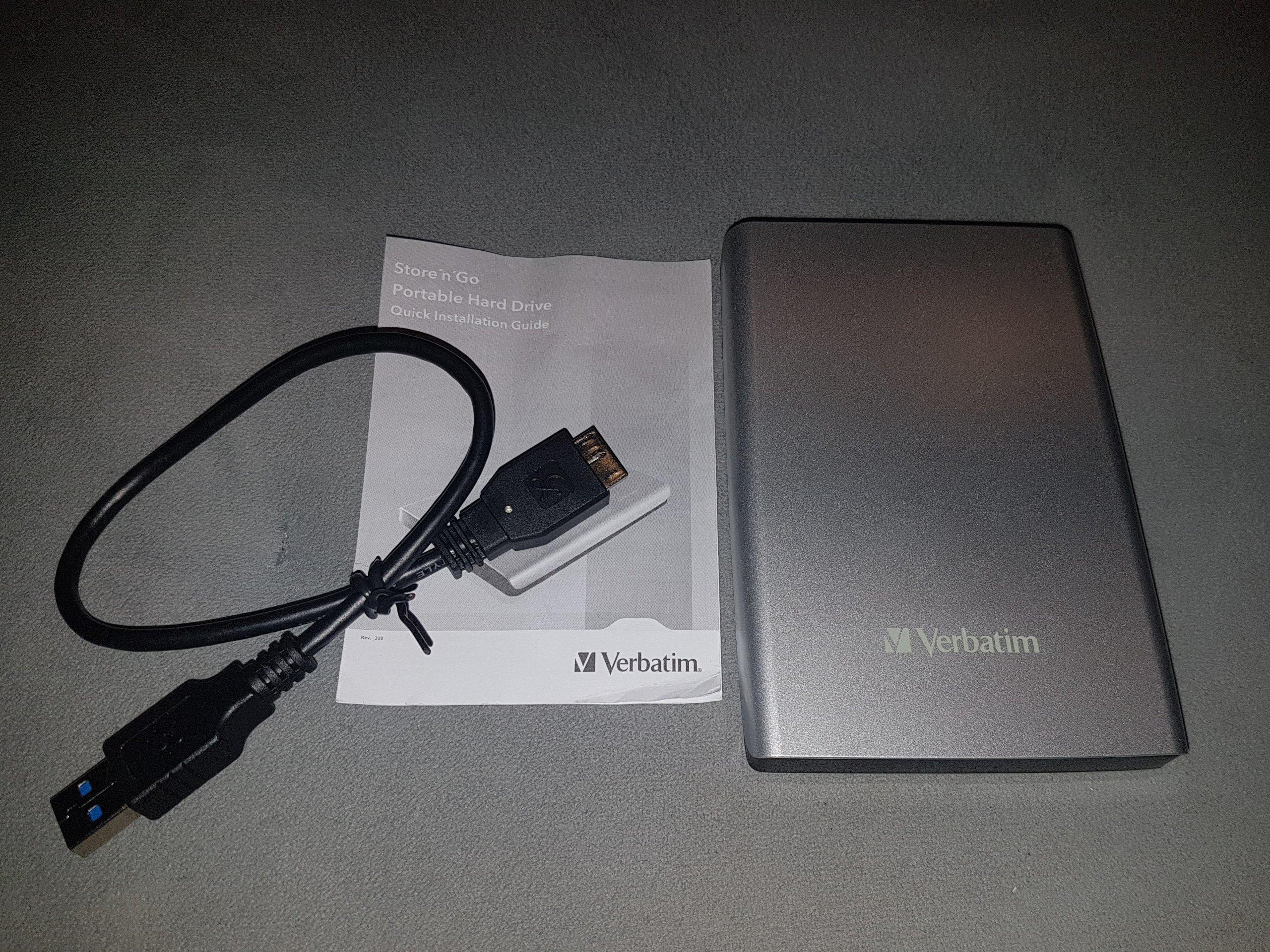 Dysk Zewnetrzny VERBATIM 1TB . Srebrny Nowy,USB3.0