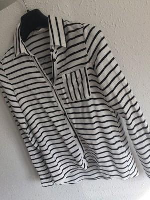 koszula biala w czarne paski zara