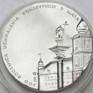 Jan Paweł II 1991 200 Roczn Konstytucji SREBRO s.1