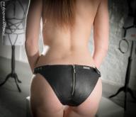 Figi zamkiem fetysz skóra BDSM Zipped Shape