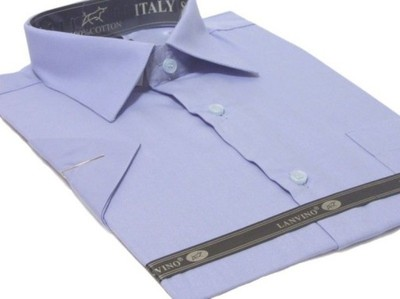 4243 Koszula męska NIEBIESKA indygo bawełna tanio  lpD9g