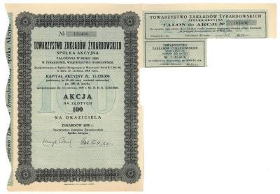 3102. Tow. Zakładów Żyrardowskich, 100zł 1930