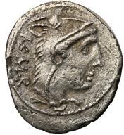 Rzym - Republika AR-denar L.Thorius Balbus 105 pne
