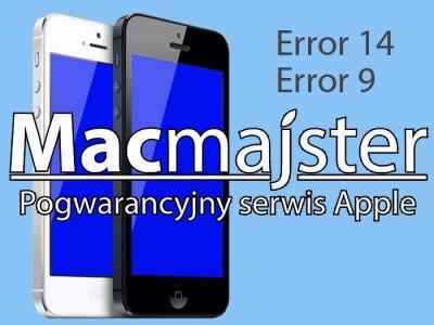 Naprawa błąd 9 i 14 iTunes iPhone 5S FV W-wa - 5508125304