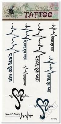 Tatuaż Tatuaże Dla Dzieci Znaki Napisy Serce Wzór