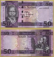 -- SUDAN POŁUDNIOWY 50 POUNDS 2015 AE P14a UNC
