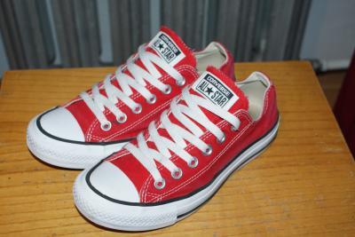 cd526f045cc4f Trampki CONVERSE 37,5 czerwone 38 36 krotkie red - 5180740528 ...
