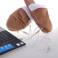 Grzejące Kapcie na USB STOPY KOMPUTERA