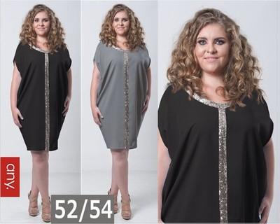 494dbfea83 Sukienka na WESELE STUDNIÓWKĘ KARNAWAŁ CEKIN 52 54 - 6661290717 ...