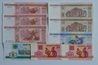 BIAŁORUŚ- 9 BANKNOTÓW UNC