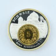 5 Rappen Szwajcaria + numizmat BERN- lustro - B284