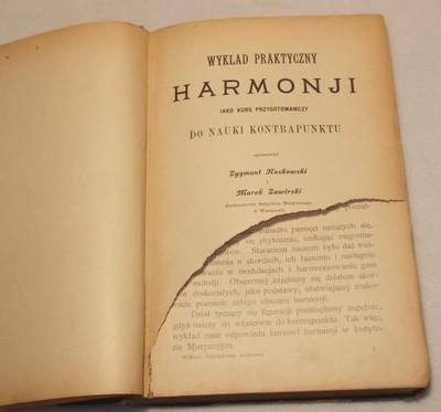 WYKŁAD PRAKTYCZNY HARMONJI - NOSKOWSKI - W-WA 1903