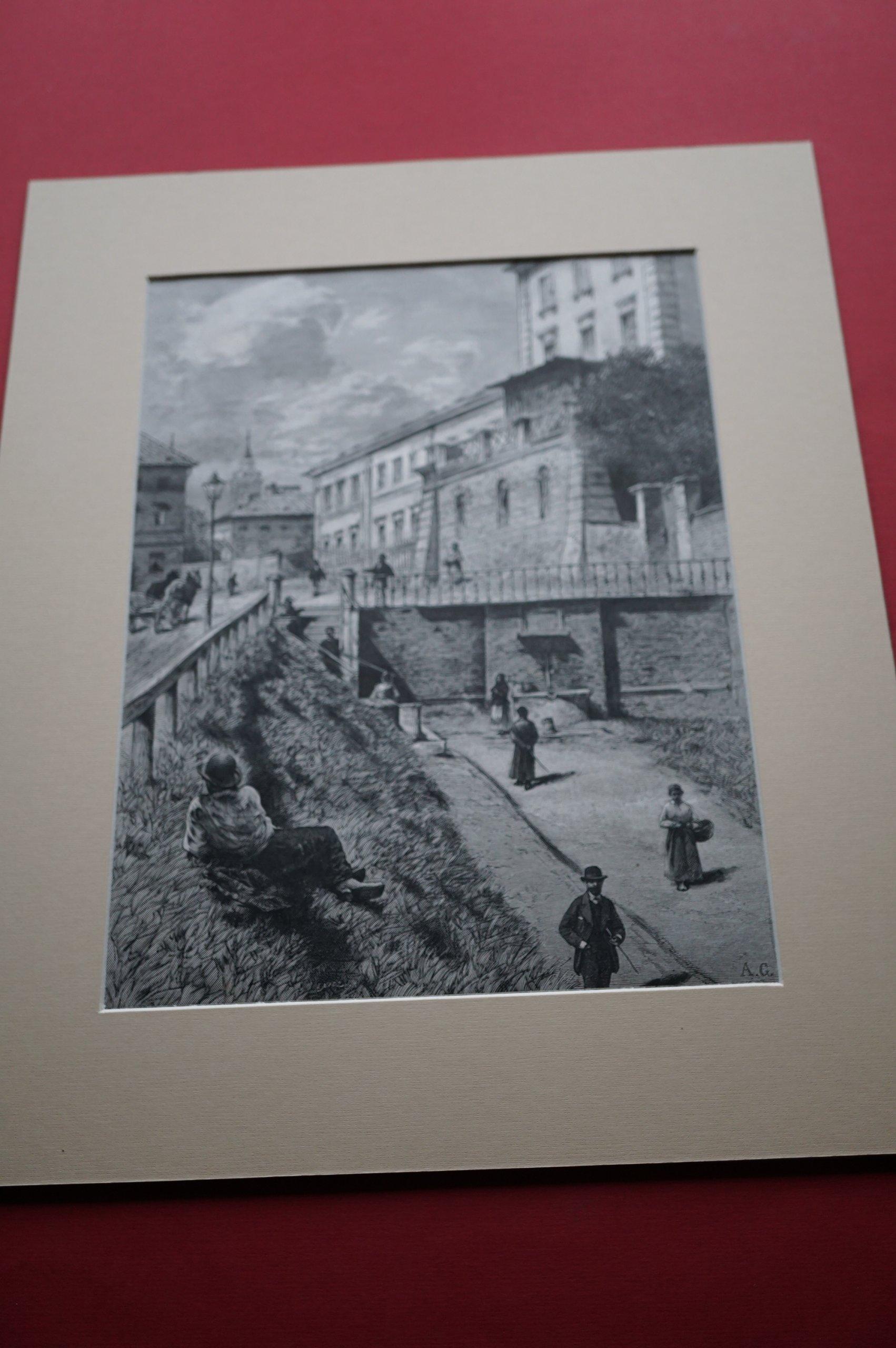 GIERYMSKI A.: Warszawa. Zdrój przy ul Oboźnej 1882