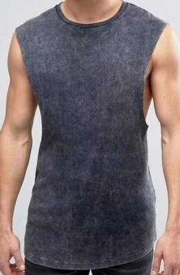 koszulka exAsos bokserka acid na siłownię XL