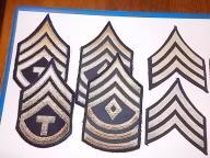 US Army USA sierżant szewrony dystynkcje komplet