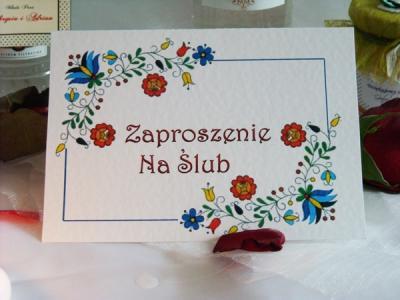Zaproszenia Na ślub ślubne Ludowe Folk Promocja 5385088135
