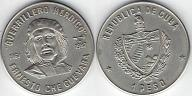Kuba, 1 peso 20 rocznica śmierci Che Guewarra