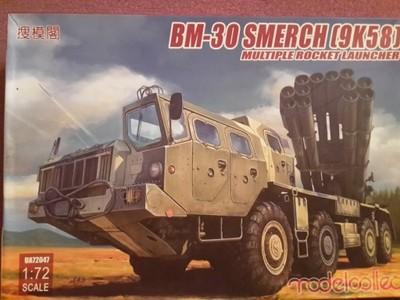BM-30 Smerch (9K58)Multiple Rocket Launcher Modelc