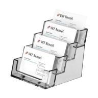 Stojaczek na wizytówki z 4 przegrodami, stojak