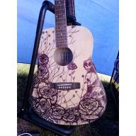 Gitara akustyczna Clifton ręcznie malowana