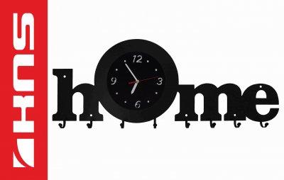 Wieszak Na Ubrania Zegar Na ścianę 3w1 Przedpokój