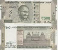 India 500 Rs 2017 UNC NOWOŚĆ !