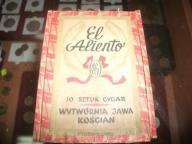 Pudełko po cygarach EL ALIENTO