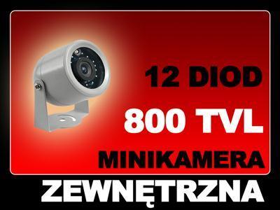 Kamera MINI zewnetrzna dzien NOC podczerwien_CCTV