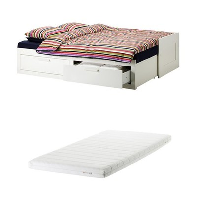 Ikea Brimnes łóżko Szuflady Rozkładane 4w1materac