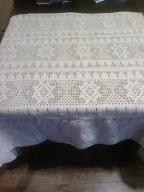 piękny bawełniany szydełkowyserweta  obrus 220x110