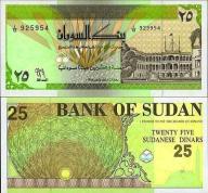 # SUDAN - 25 DINARÓW - 1992 - P53 - UNC