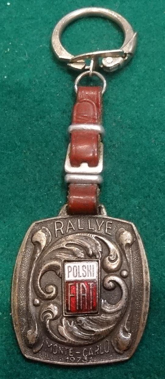 brelok POLSKI FIAT RALLYE MONTE -CARLO 1973 PRL