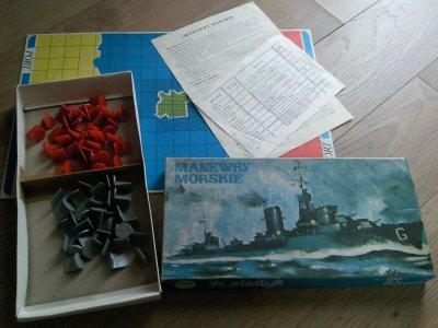 GRA PLANSZOWA PRL-U / MANEWRY MORSKIE-1980/82 ROK.