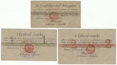 210. Świecie 50pf, 1mk, 2mk 1920, st.+/-3