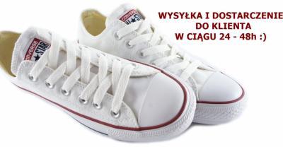 38be69284bf converse białe krótkie 38 allegro BIAŁE TRAMPKI KRÓTKIE NISKIE CONVERSE 38  nowe logo - 4772998783 .