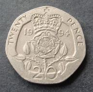 Wlk. Brytania - 20 Pensów 1994