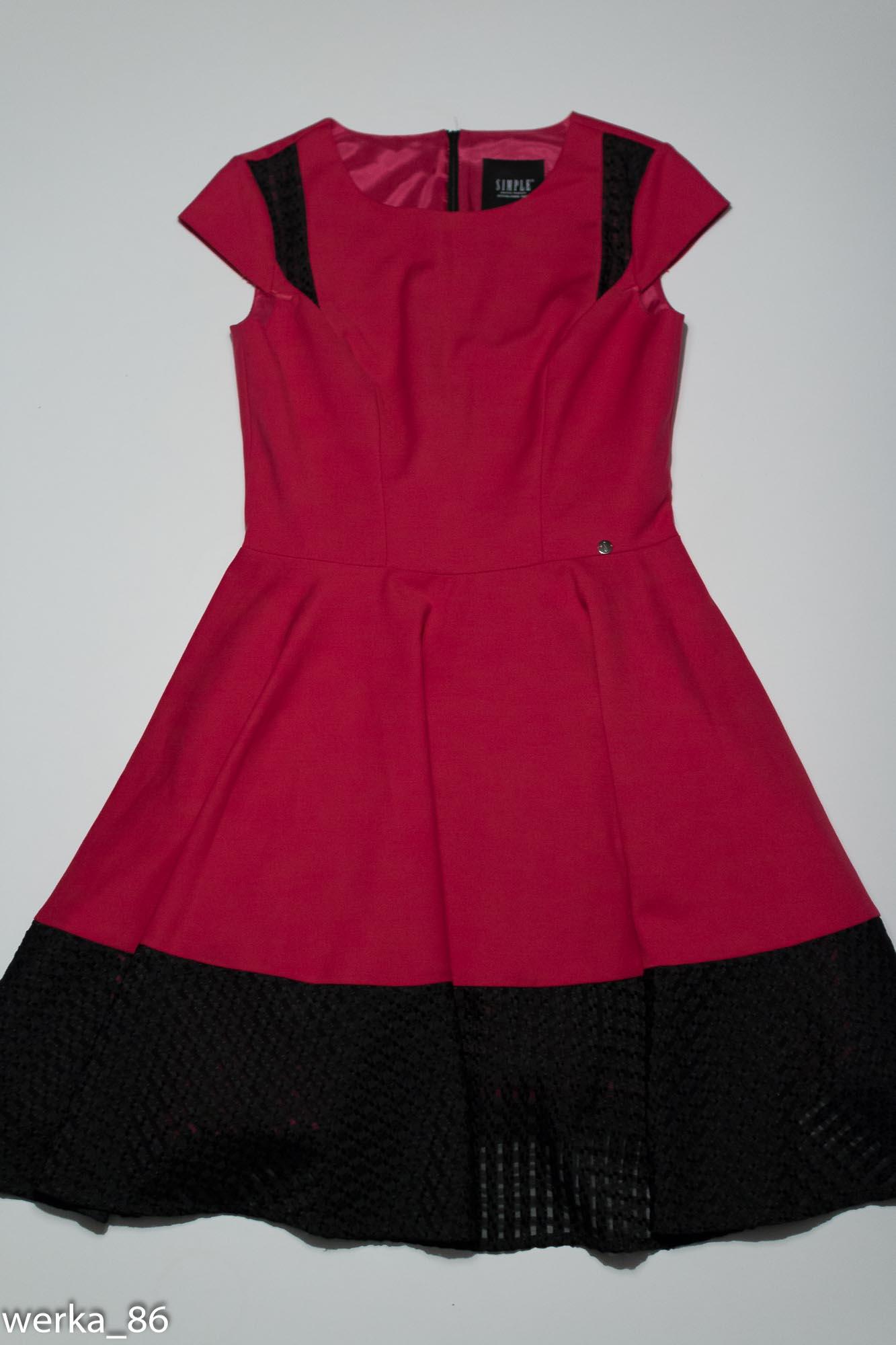 37b15c9d55 sukienka SIMPLE różowo-czarna 38 M - 7065457900 - oficjalne archiwum ...
