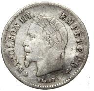 Francja - moneta - 20 Centymów 1867 BB - SREBRO -2